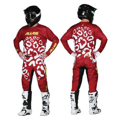 2018 Alias YOUTH A2 Cheetah MX Motocross Kit Combo - Maroon White