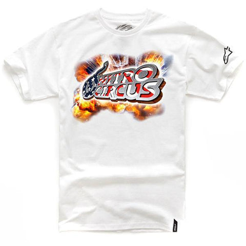 Alpinestars Casual Wear Alpinestars Mens Nitro Circus Hollywood T-Shirt - White - XLarge