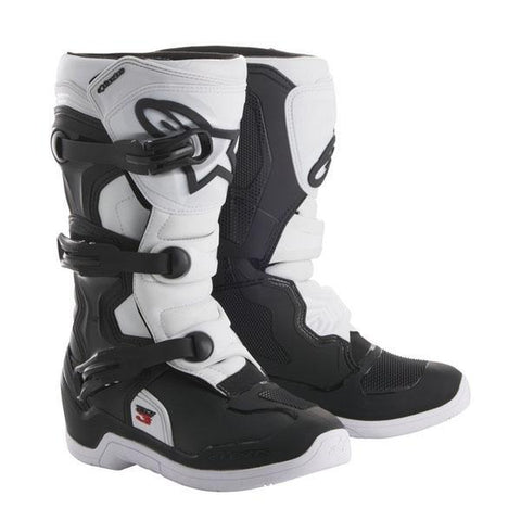 Alpinestars Youth Motocross Boots 2018 Alpinestars Youth Tech 3S Motocross Boots - Black & White
