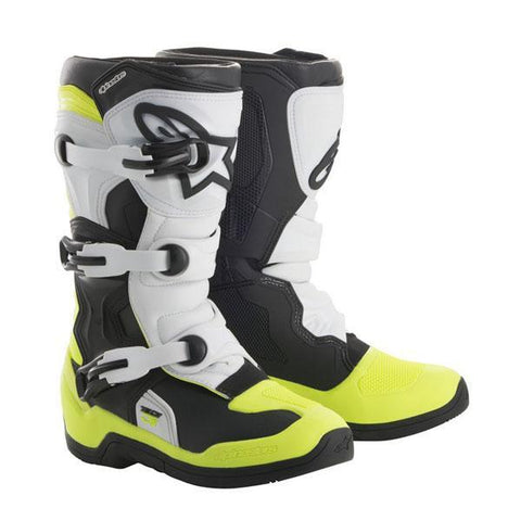 Alpinestars Youth Motocross Boots 2018 Alpinestars Youth Tech 3S Motocross Boots - Black, White & Yellow Fluo
