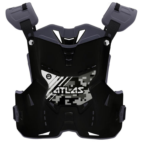 Atlas Motocross Body Protection 2017 Atlas Defender YOUTH Motocross Body Armour - Digital Stealth