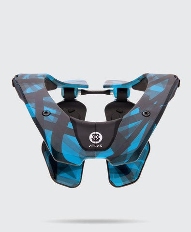 Atlas Youth Motocross Neck Braces 2018 Atlas Prodigy YOUTH Motocross Neck Brace - Cyan Laser