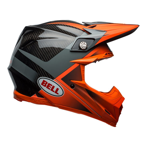 Bell Motocross Helmets 2018 Bell Moto 9 Carbon Flex Motocross Helmet - Hound Gloss Matte Orange/Charcoal