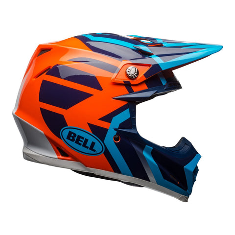 Bell Motocross Helmets 2018 Bell Moto 9 MIPS Motocross Helmet - District Blue/Orange