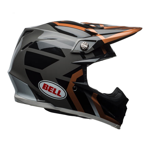 Bell Motocross Helmets 2018 Bell Moto 9 MIPS Motocross Helmet - District Copper/Black/Charcoal