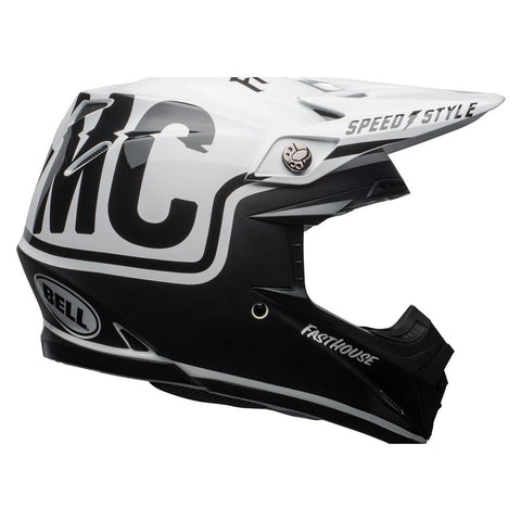 Bell Motocross Helmets 2018 Fasthouse / Bell Collaboration Moto 9 MIPS MX Helmet - Matte Black / White