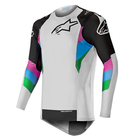 2019 Alpinestars Supertech Jersey LE Vision Cool - Grey/Black