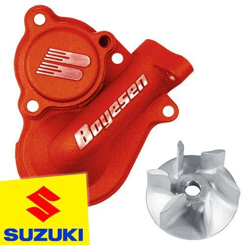 Boyesen Performance Products SUZUKI RMZ450 08-14 Boyesen Suzuki SuperCooler Water Pump Kit - Red