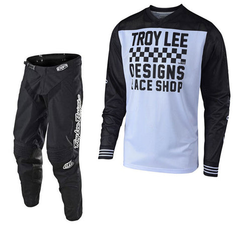 2018 Troy Lee Designs GP Air Raceshop 18.1 Kit Combo - White/Black