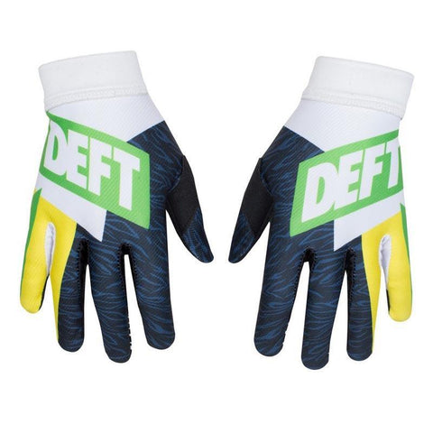 Deft Family 8 (S) 2016 Deft Family MX Motocross Gloves Evident Art 3 - Green Yellow