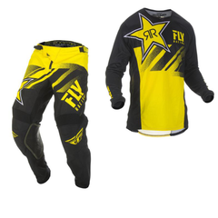 2019 Fly Rockstar MX Motocross & Enduro Kit Combo - Yellow/Black