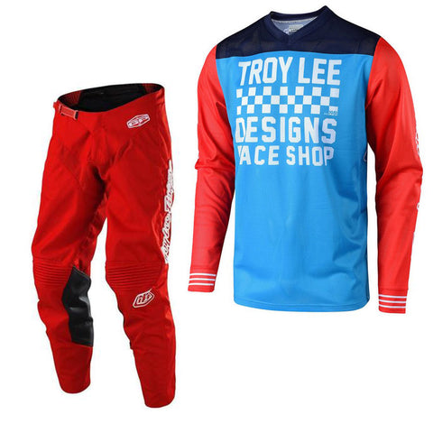 2018 Troy Lee Designs GP Air 18.1 Raceshop Kit Combo - Ocean Blue/Red