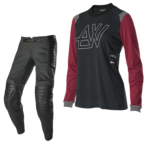 2019 Shift ATWYLD Motocross Kit Combo - Black/Purple