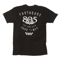 Fasthouse 805 Checkers Tee - Black
