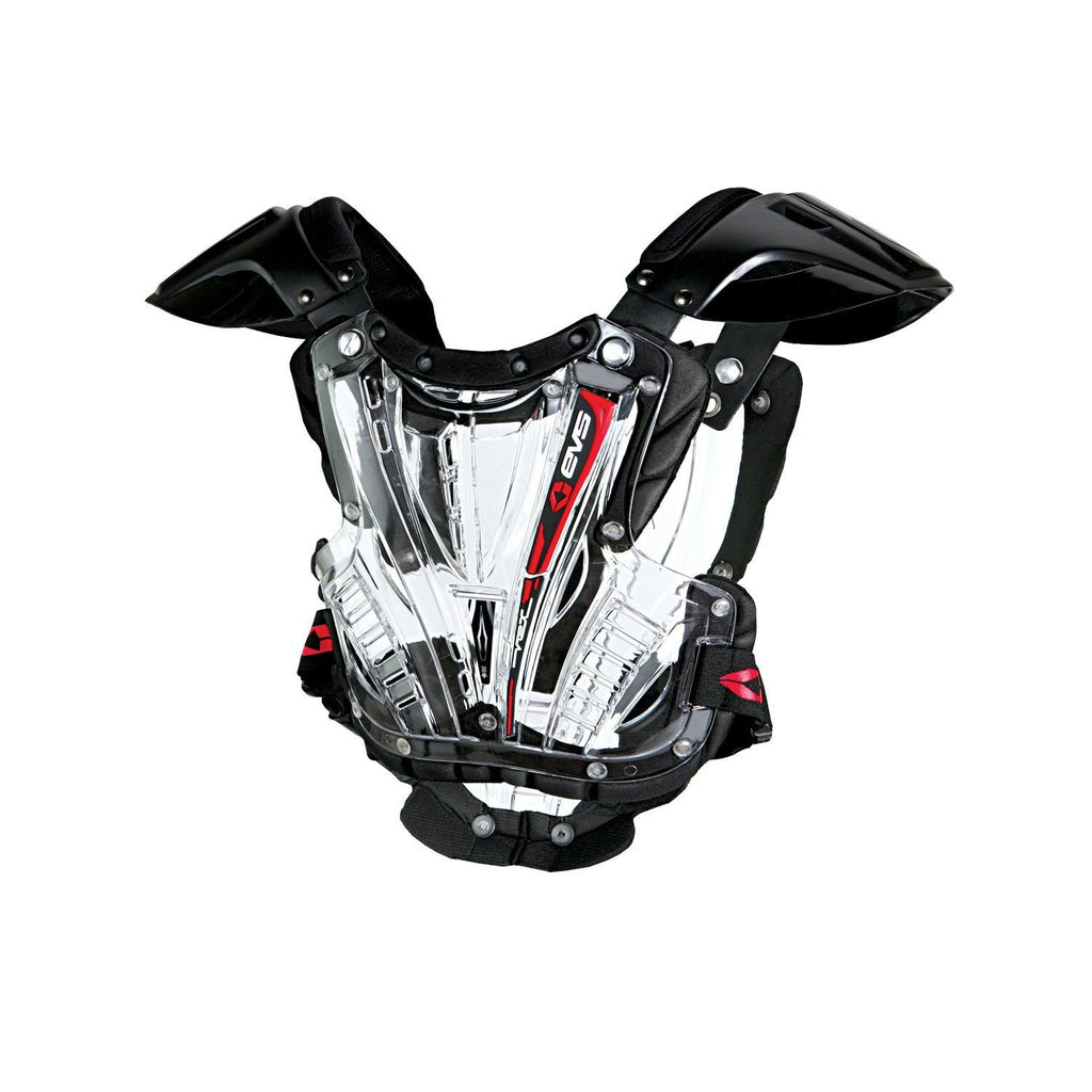 EVS Motocross Body Protection EVS Youth Vex Chest Protector - Clear/Black