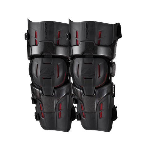 EVS Motocross Body Protection M EVS Adult RS9 PRO Knee Braces - Black/Red