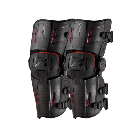 EVS Motocross Body Protection M EVS Adult RS9 STD Knee Braces - Black/Red