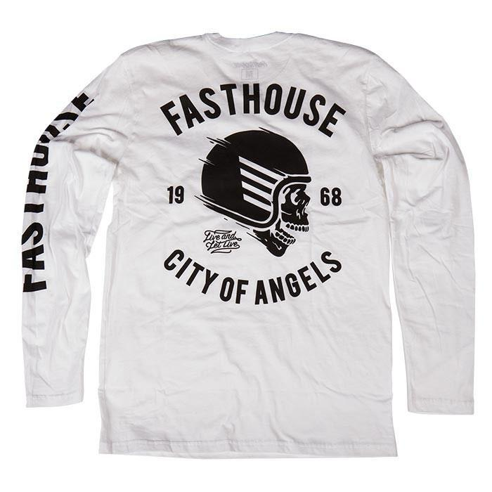 Fasthouse Casual Wear Medium Fasthouse Adult Long Sleeve T-Shirt Rebel - White