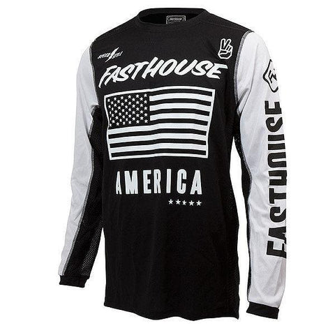 Fasthouse Motocross Jerseys S Fasthouse American Air-Cooled Moto Motocross Jersey - Black