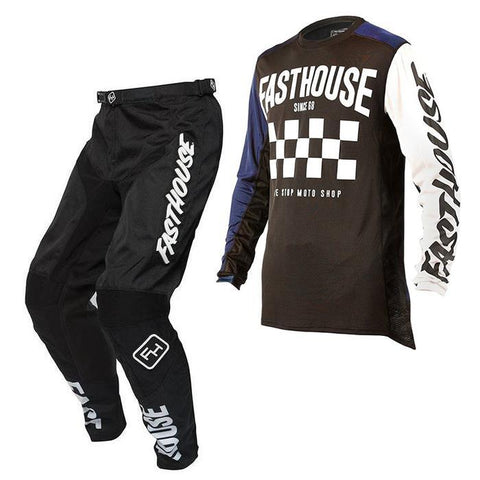 Fasthouse Motocross Kit Combo 2018 Fasthouse Victory L1 MX Motocross Kit Combo -Navy/Black
