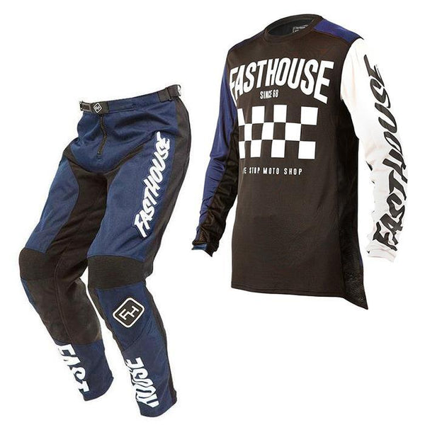 Fasthouse Motocross Kit Combo 2018 Fasthouse Victory L1 MX Motocross Kit Combo -Navy/Navy