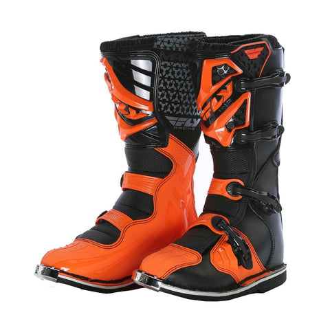 Fly Racing Motocross Boots UK1 (US2) 2016 Fly Racing Maverik YOUTH MX Motocross Boots - Black/Orange