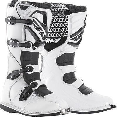 Fly Racing Motocross Boots UK3 (US4) 2016 Fly Racing Maverik YOUTH MX Motocross Boots - White