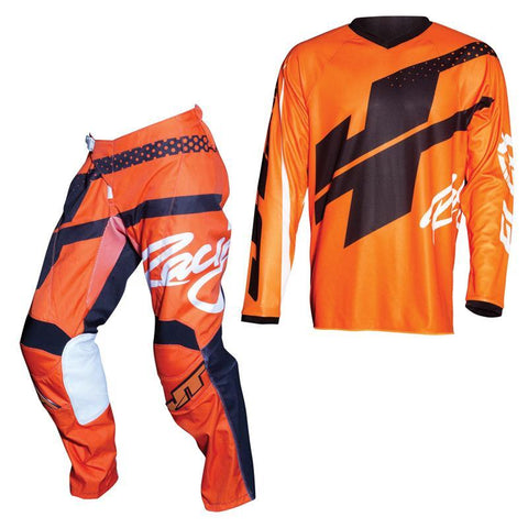 Fly Racing Motocross Kit Combo 2018 JT Racing Flex Hi-Lo MX Motocross Kit Combo - Fluo Orange / Black