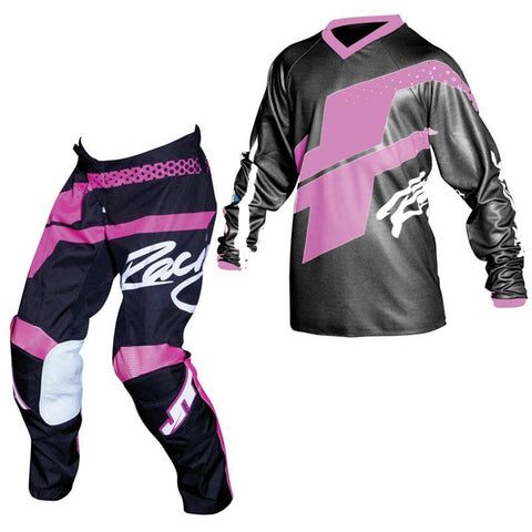 Fly Racing Youth Motocross Kit Combo 2018 JT Racing YOUTH Flex Hi-Lo MX Motocross Kit Combo - Black / Pink