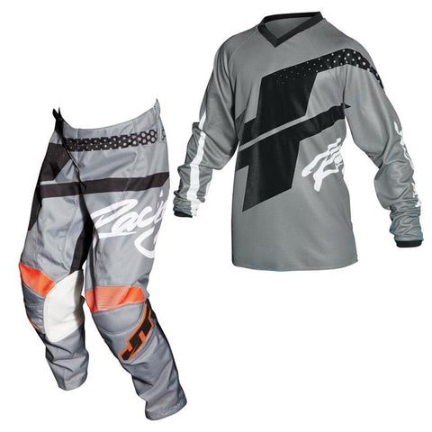 Fly Racing Youth Motocross Kit Combo 2018 JT Racing YOUTH Flex Hi-Lo MX Motocross Kit Combo - Grey / Black