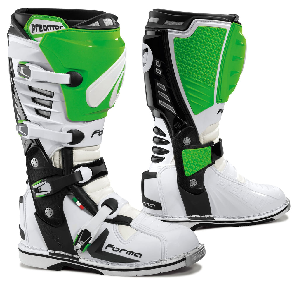 Forma Motocross Boots 43 Forma Predator Motocross Boots - White Green