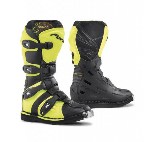 Forma Youth Motocross Boots 35 Forma Cougar Kids YOUTH MX Motocross Boots - Black / Fluo Yellow