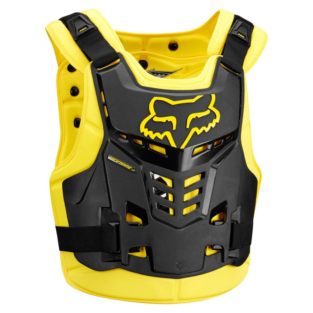 Fox Motocross Body Protection Large/XLarge 2018 FOX Proframe LC Roost Deflector CE - Black / Yellow