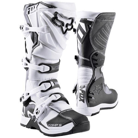 Fox Motocross Boots 7 (41) 2018 FOX Comp 5 MX Motocross Boots - White