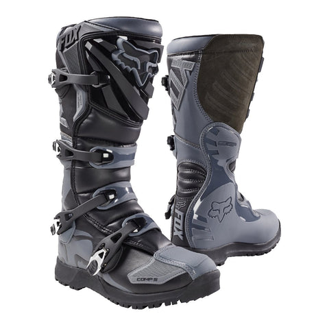 Fox Motocross Boots 8 (42.5) 2018 FOX Comp 5 Offroad MX Motocross Enduro Boots - Black/Grey