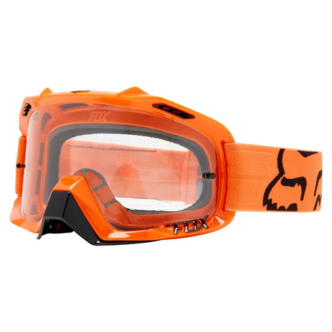Fox Motocross Goggles 2018 FOX Air Defence MX Motocross Goggles - Orange - Grey Lens
