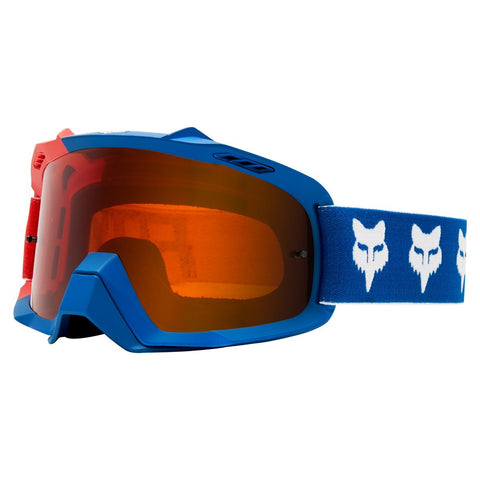 Fox Motocross Goggles 2018 FOX Air Space Draftr MX Motocross Goggles - Blue