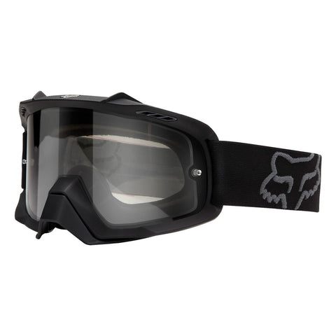 Fox Motocross Goggles 2018 FOX Air Space Enduro MX Motocross Goggles - Matte Black - Clear Lens