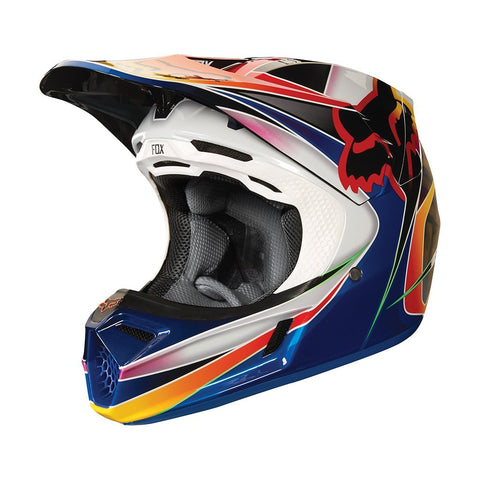 Fox Motocross Helmets M - 57-59cm 2018 FOX V3 Kustm MX Motocross Helmet - Multi