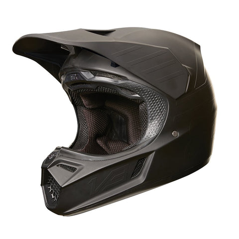 Fox Motocross Helmets M - 57-59cm 2018 FOX V3 Matte Carbon MX Motocross Helmet - Matte Black
