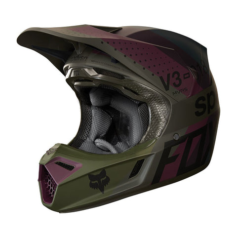 Fox Motocross Helmets S - 54-56cm 2018 FOX V3 Draftr MX Motocross Helmet - Charcoal
