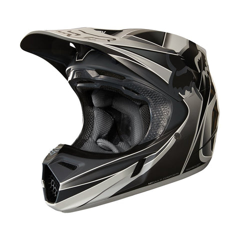Fox Motocross Helmets S - 54-56cm 2018 FOX V3 Kustm MX Motocross Helmet - Grey