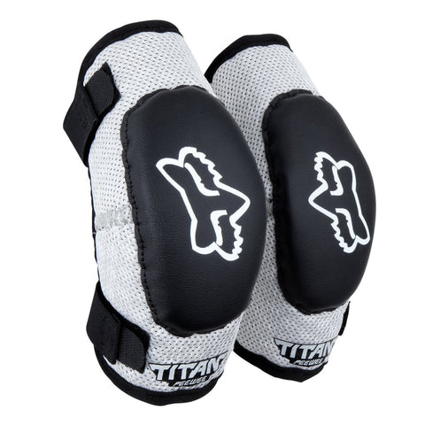 Fox Youth Motocross Body Protection 2018 FOX Peewee Titan KIDS MX Motocross Elbow Guards - Black / Silver