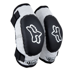 2019 FOX Peewee Titan YOUTH MX Motocross Elbow Guards - Black / Silver
