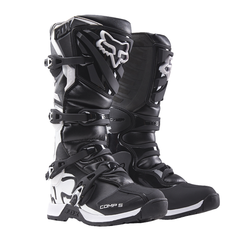 Fox Youth Motocross Boots 1 2018 FOX Comp 5 YOUTH MX Motocross Boots - Black