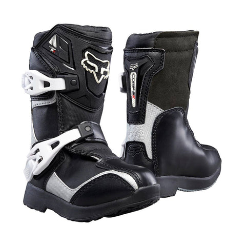 Fox Youth Motocross Boots 12 2018 FOX Comp 5K PEEWEE MX Motocross Boots - Black Silver