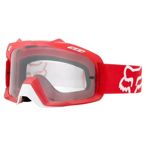 Fox Youth Motocross Goggles 2018 FOX Air Space YOUTH MX Motocross Goggles - Red - Clear Lens