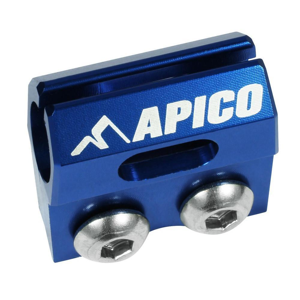 Front Brake Hose Clamps Apico Brake Hose Clamp Yamaha Blue