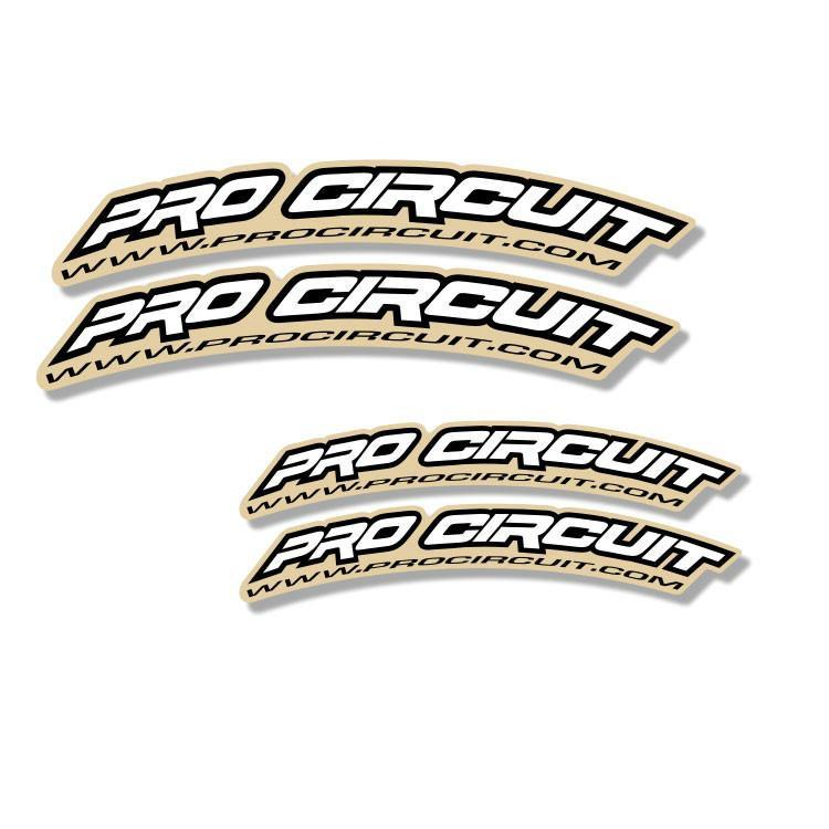 Front Fender Curved Decals Large - 125cc-450cc Zeronine Graphics Universal Curved Fender Decal - Pro Circuit - White
