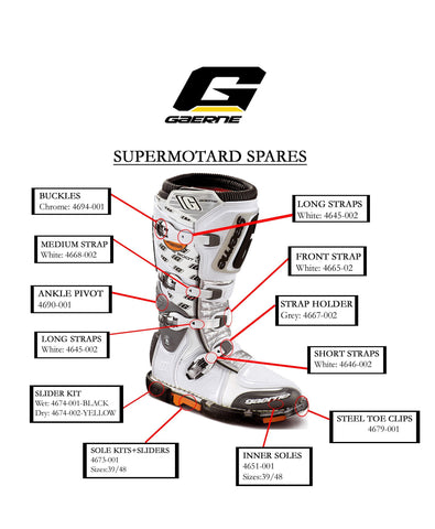 Gaerene Boot Spares 4694-001 / 41 Gaerne Spare Motocross Boot Parts - Supermoto
